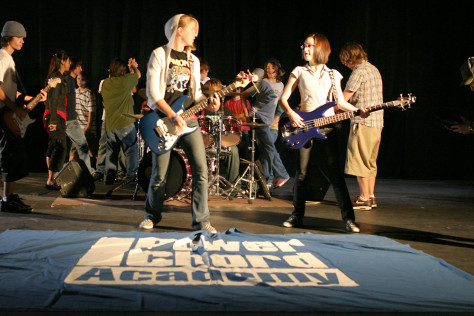 Image: Performers at the Power Chord Academy