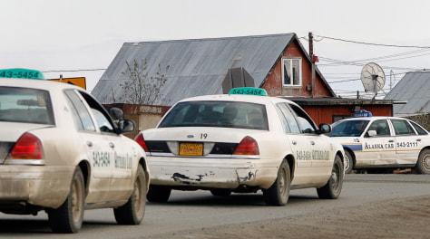 Image: Bethel , Alaska taxi cabs