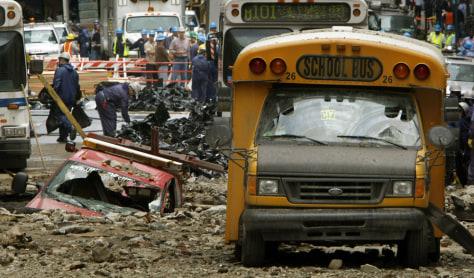 Image: Destroyed truck