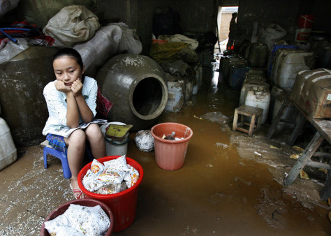 IMAGE: Flooded shop in Chongqing