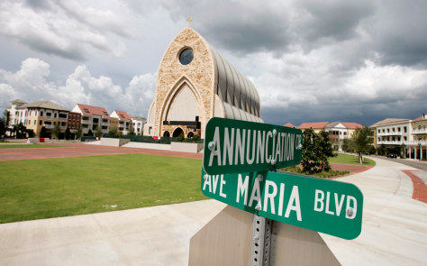 Image: Street signs in Ava Maria