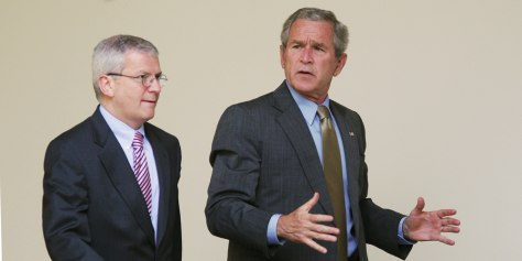 US President George W. Bush (R) and Whit