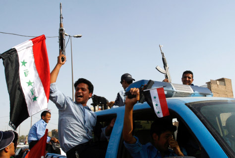 IMAGE: IRAQIS CELEBRATE SOCCER WIN