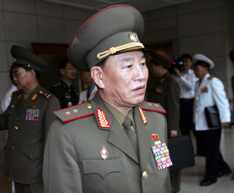 IMAGE: North Korean chief delegate Lt. Gen. Kim Yong Chol
