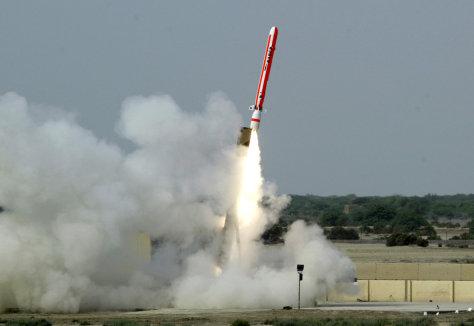 IMAGE: Pakistan missile test