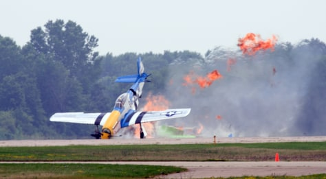 Image: P-51 crash