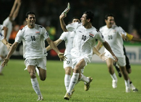 Image: Iraq team celebrating