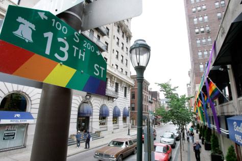 """Image: """"Gayborhood"""", Philadelphia"""