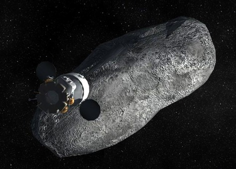 Image: Illustration of asteroid mission