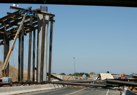 Image: Collapsed overpass