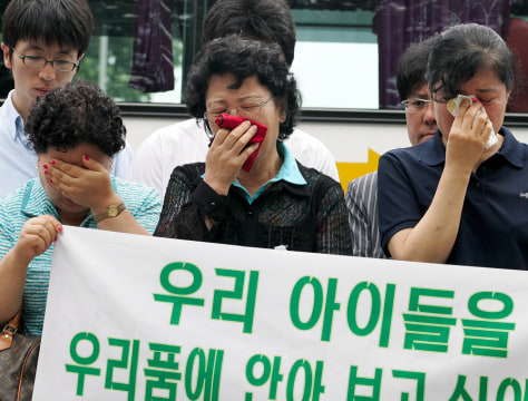 IMAGE: Relatives of South Koreans