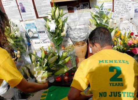 IMAGE: Jean Charles de Menezes memorial