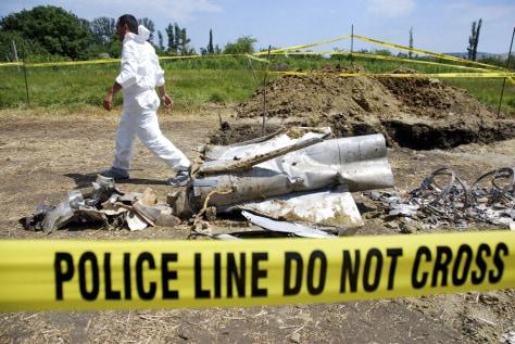 IMAGE: Missle debris in Georgia
