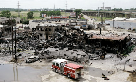 Image: Remains of Dallas gas facility