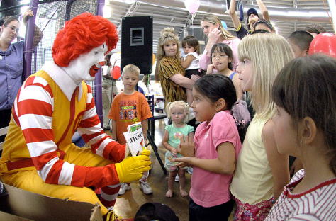 Image: Kids with Ronald McDonald