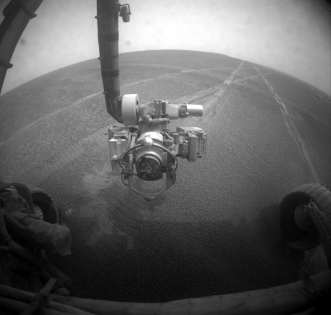 Image: Dusty Opportunity rover