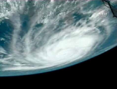 Image: Hurricane seen from space