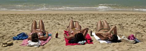 IMAGE: Sunbathers