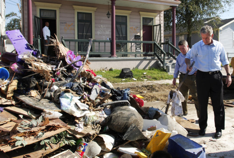 Image: George Bush in New Orleans