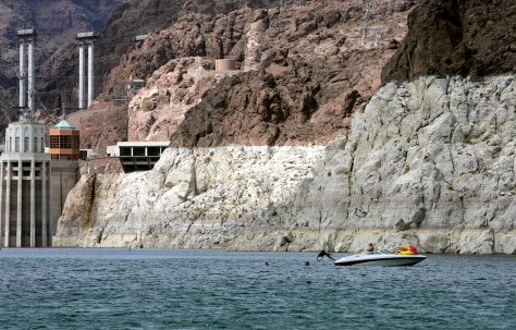 Image: Low water level at Lake Mead