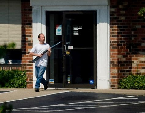 Image: Alleged bank gunman