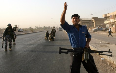 IMAGE: Tight security for Iraq's Shiite pilgrims