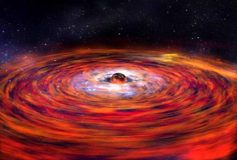 Image: Illustration of warping around neutron star