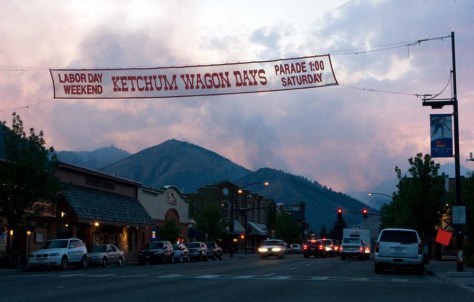 IMAGE: SMOKE FROM FIRE OVER KETCHUM