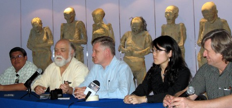 Image: News conference at the Museo de las Momias in Guanajuato