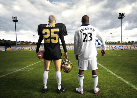 Image: David Beckham, Reggie Bush