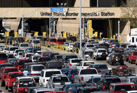 IMAGE: Backup at U.S. border point
