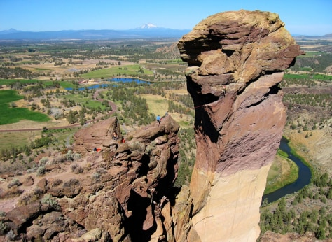 Image: East Face of Monkey Face, Smith Rock, Ore.