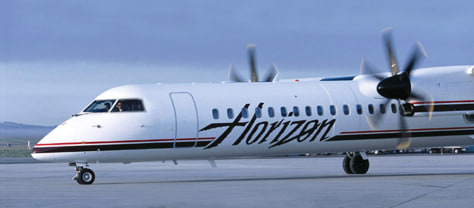 Image: Q400 turboprop airliner