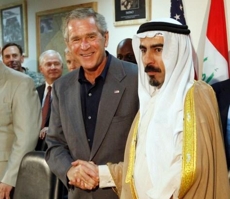 IMAGE: George W. Bush, Abdul Sattar Abu Risha.