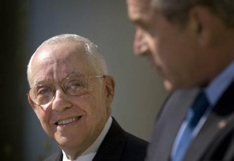 IMAGE: BUSH AND MUKASEY