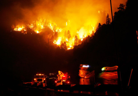 IMAGE: CALIFORNIA FIRE AT NIGHT
