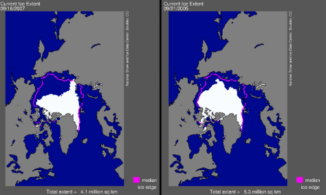 IMAGE: MAP OF SEA ICE DECLINE