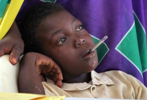 Image: Sick Darfur boy