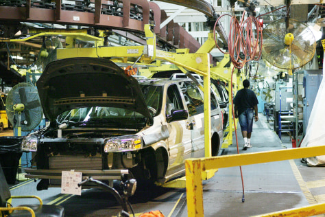 Image: A GM assembly plant