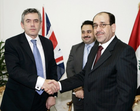 IMAGE: British Prime Minister Brown and Iraqi Prime Minister Nouri al-Maliki.