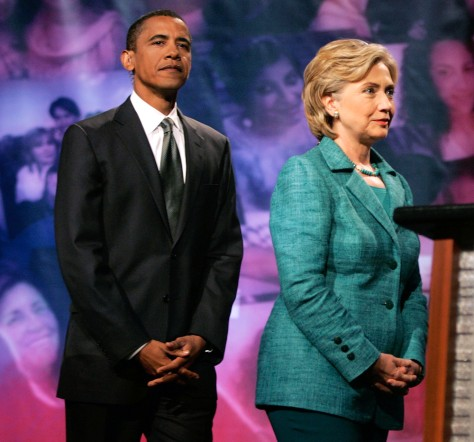 Image: Obama and Clinton