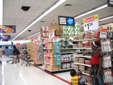 Wal-Mart aisles