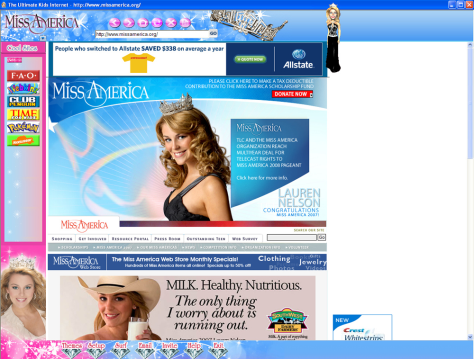 Image: Miss America kid-safe Web browser