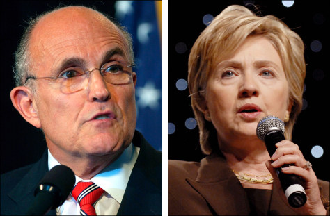 Image: Giuliani and Clinton