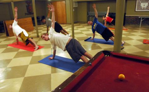 IMAGE: Sigma Phi Epsilon yoga class