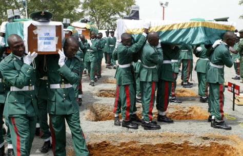 Image: Nigerian pallbearers