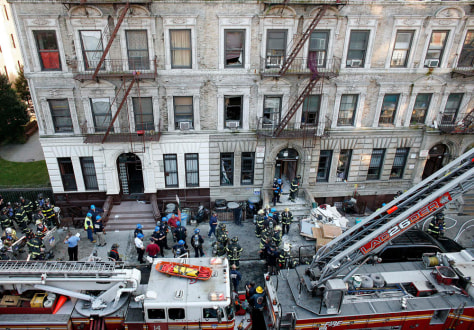 Image: Scene of explosion in Harlem