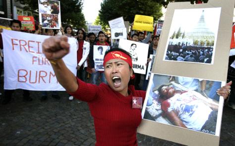 Protest against Myanmar junta inFrankfurt