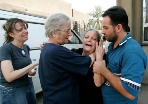 IMAGE: Mourning slain Iraqi women