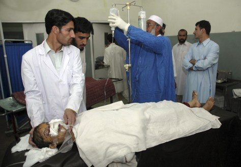 IMAGE: Treating the injured in Peshawar